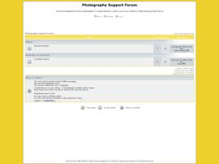 Photography Support Forum