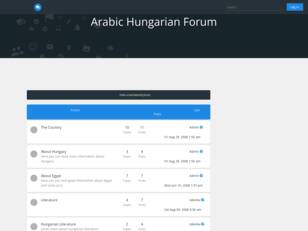 Arabic Hungarian Forum