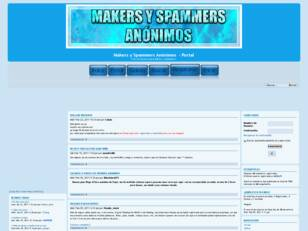 Foro gratis : Makers y Spammers Anonimos