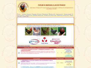 PAGE D'ACCUEIL DES FORUMS DU MARANS-CLUB DE FRANCE