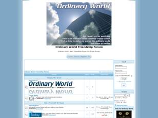 Ordinary World Friendship Forum