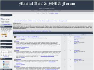 Martial Arts And MMA Forum Bringing Martial Artist Together