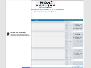 Forum gratuit : max' meeting forum