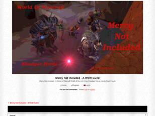 Mercy Not Included - A WoW Guild
