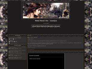 creer un forum : Metal Never Die