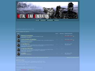 Forum Metal Gear Generation