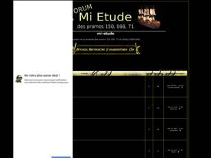 creer un forum : mi-etude
