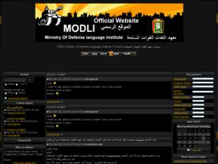 MODLI (Ministry Of Defense Language Institute ) Forums منتديات معهد ال