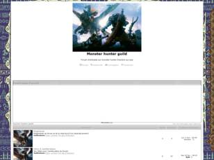 creer un forum : Monster hunter guild