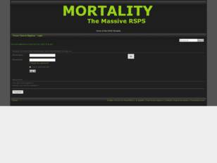 Mortality Official Forums