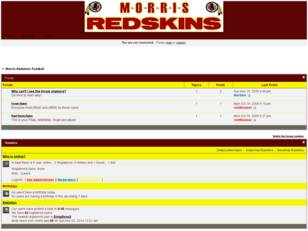 Free forum : Morris Redskins Free Forum