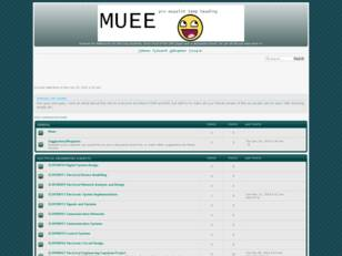 MUEE Discussion Board