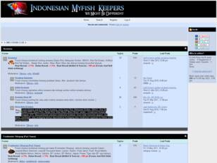 Welcome to Indonesian My Fish Keepers : : : INDOMFK : : :