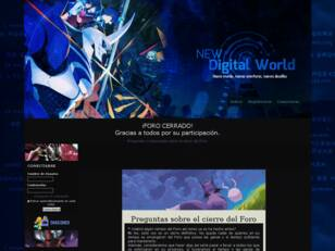 NEW Digital World - Digimon Rol