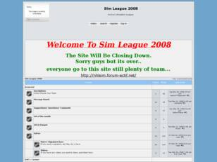 Free forum : Sim League 2008