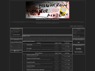Free forum : Nightrow Monster Academy