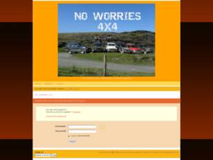 Free forum : NO WORRIES 4X4