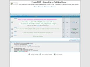 Forum NSM - Regendats en Mathematiques