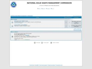 NATIONAL SOLID WASTE MANAGEMENT COMMISSION FORUMS
