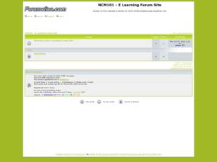 NCM101 - E Learning Forum Site