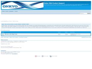 Onkyo USA Product Support Forum