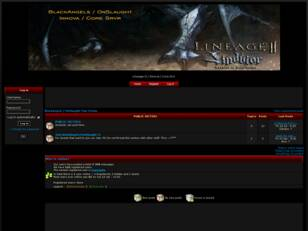 BlackAngels / OnSlaught Clan Forum - Innova / Core Server - Lineage II
