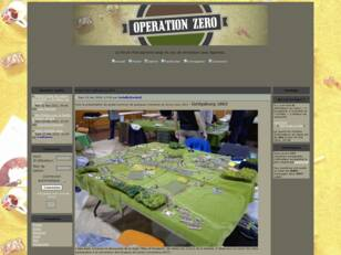 Operation Zero : Forum francophone belge du wargam