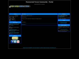 Free forum : Paranormal Forum Community
