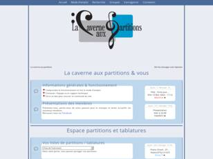 La caverne aux partitions