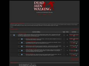 Dead Men Walking Homepage