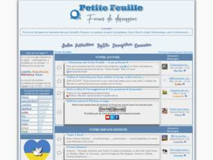 Forum de discussion libre Petite Feuille