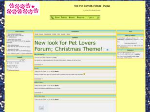 THE PET LOVERS FORUM