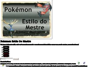 Forum Pokemon Estilo Do Mestre