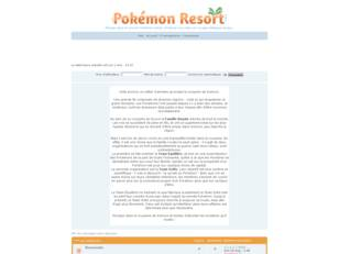 Pokémon Resort - Le forum