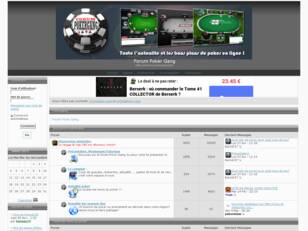 Poker gratuit - Forum de poker en ligne Poker gang