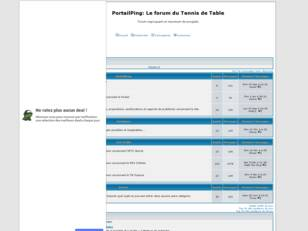 PortailPing: Le forum du Tennis de Table