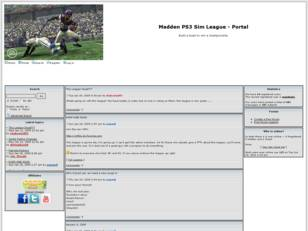 Free forum : Madden PS3 Sim League