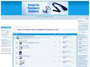 Forum for Psychiatry Residents, Fellows and Physicians