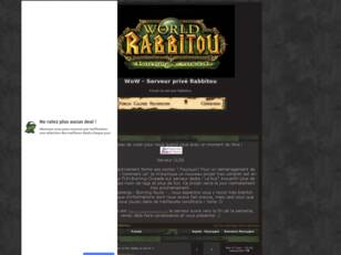 WoW - Serveur prive Rabbitou