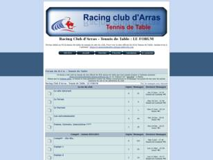 Racing Club d'Arras - Tennis de Table