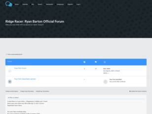 Ridge Racer: Ryan Barton Official Forum