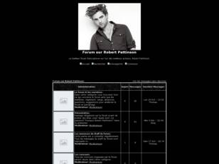 Forum sur Robert Pattinson France !