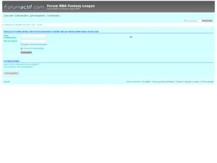 Forum NBA Fantasy League