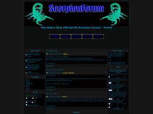 ScorpionForum:The Webs only Official all Scorpion