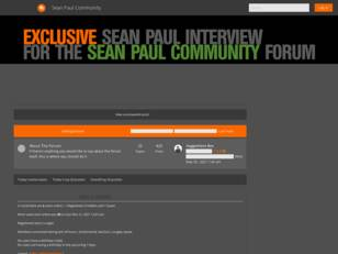 ::SPC - Sean Paul Community. Number One SP Site!
