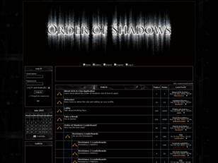 Order of Shadows: Forums