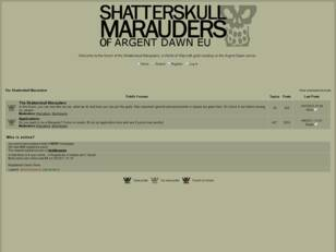 The Shatterskull Marauders Forums
