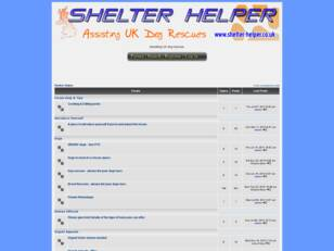 Shelter Helper Forum