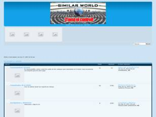 Foro gratis : Similar World - Índice