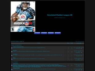 Free forum : Simulated Madden League 08